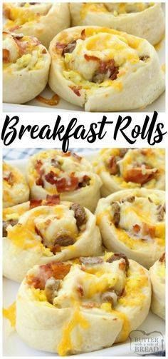 Breakfast Rolls fill Breakfast Rolls filled with scrambled eggs...  Breakfast Rolls fill Breakfast Rolls filled with scrambled eggs bacon sausage & cheese then rolled in homemade dough and baked to perfection. These rolls are perfect for breakfast brunch or dinner! Easy #breakfast #recipe from Butter With A Side of Bread Recipe : http://ift.tt/1hGiZgA And @ItsNutella  http://ift.tt/2v8iUYW