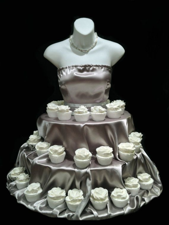 silver couture cupcake stand for weddings showers by theeventfairy 20000