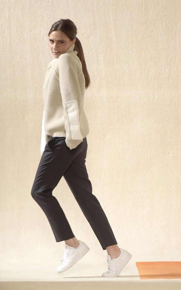 victoria-beckham- comfy white sneakers