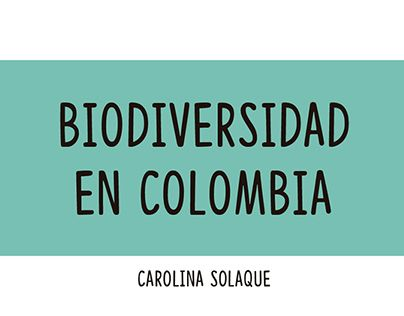 "Check out new work on my @Behance portfolio: ""Biodiversidad en Colombia"" http://be.net/gallery/55012219/Biodiversidad-en-Colombia"