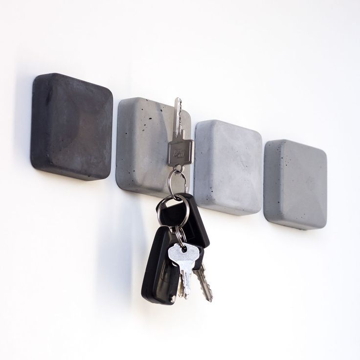 Magnetic Key Holder made of Concrete Magnetic Ke …