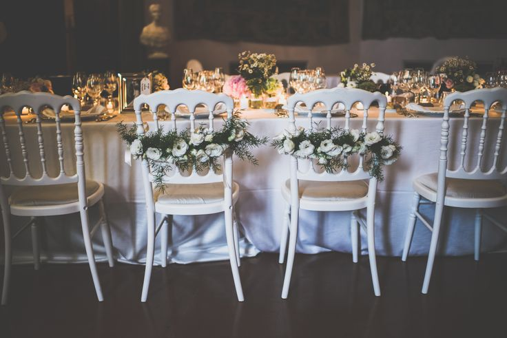 Decoration for the bride and groom's chairs