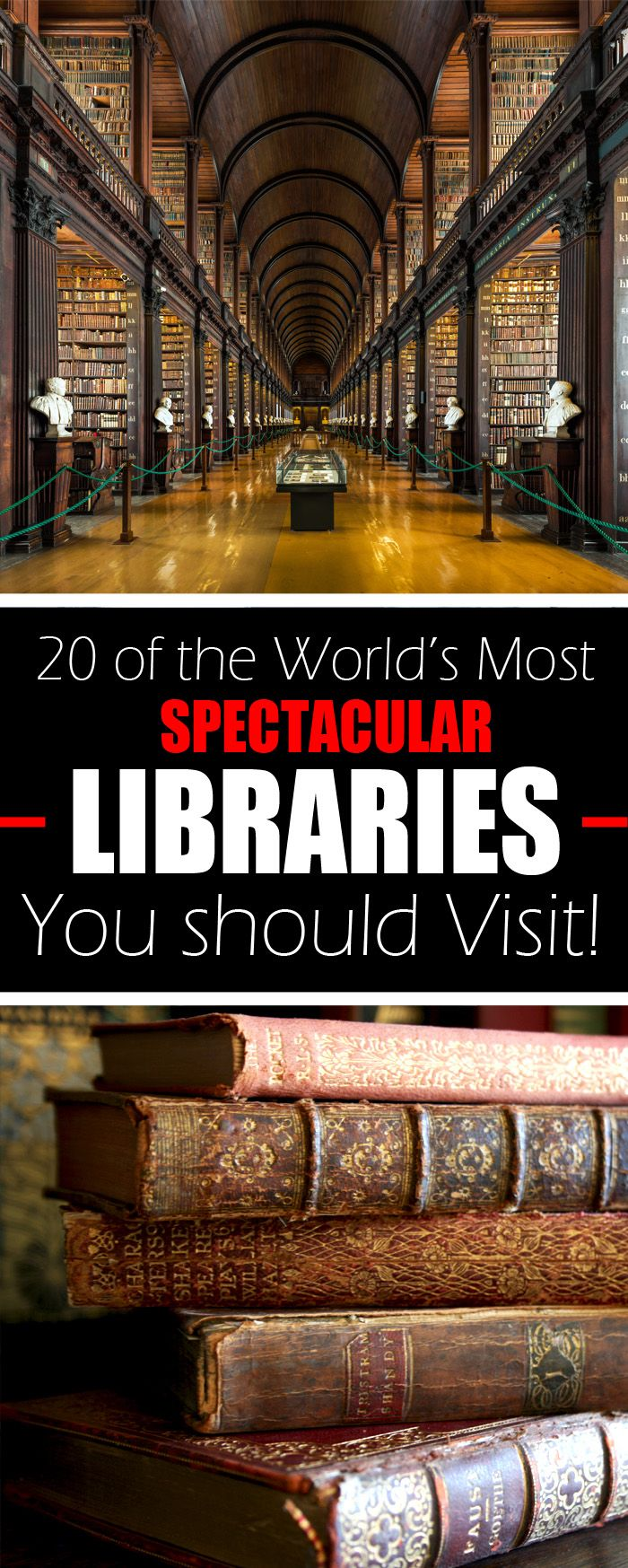 20 of the World's Most Spectacular Libraries You should Visit! #travel #culture #books