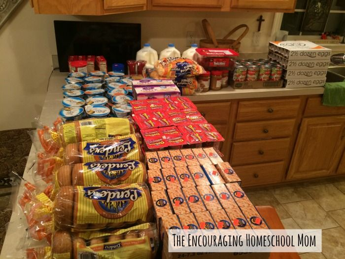$90 Grocery Shopping Haul for a Large Family! If you have a large family, I think you'll be inspired by her post.