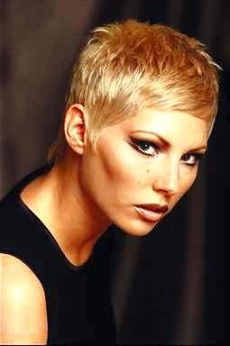 Very Short Blonde pixie cut!