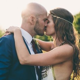 The most amazing Maid Marian inspired Tipi wedding with one of the most beautiful gowns we've seen ever! Check out the hilarious DJs  too!