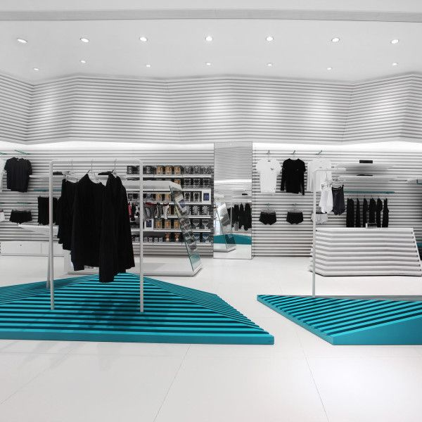 A' Design Award Winner Favorites 2013: The interior of this Umix Top Underwear Store by as Design Service Limited has a topographic map feeling to it.