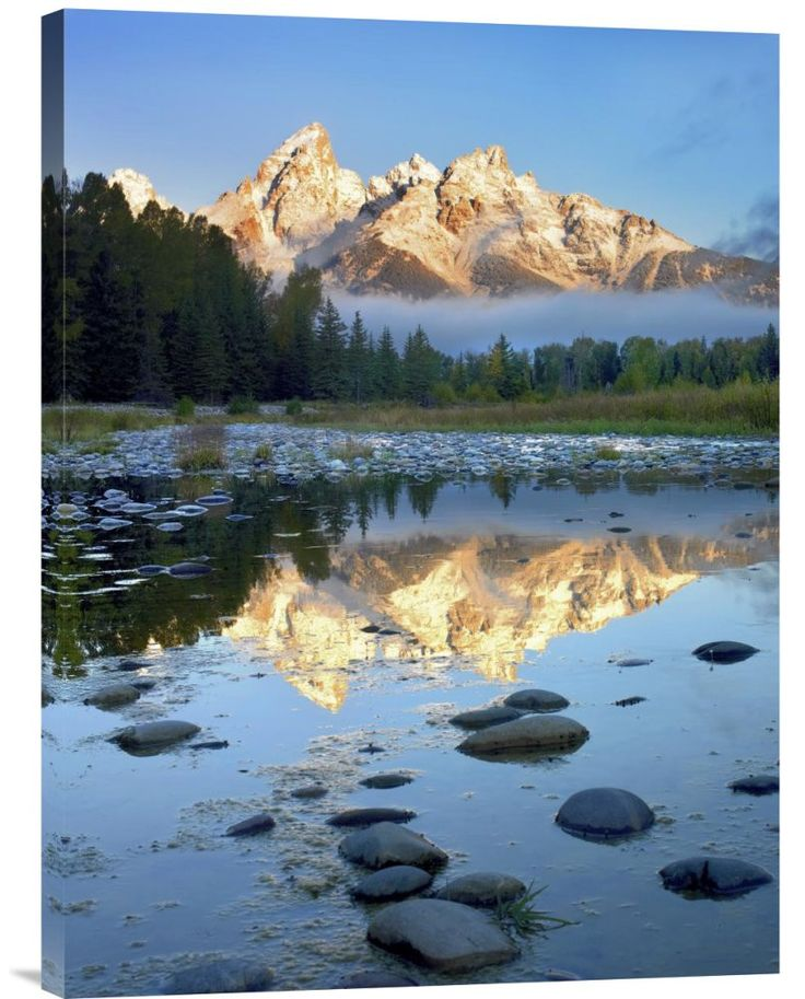 Teton Range Reflected in Water, Grand Teton National Park, Wyoming http://www.explosionluck.com/products/buy-feng-shui-fine-art-photo-teton-range-reflected-in-water-grand-teton-national-park-wyoming