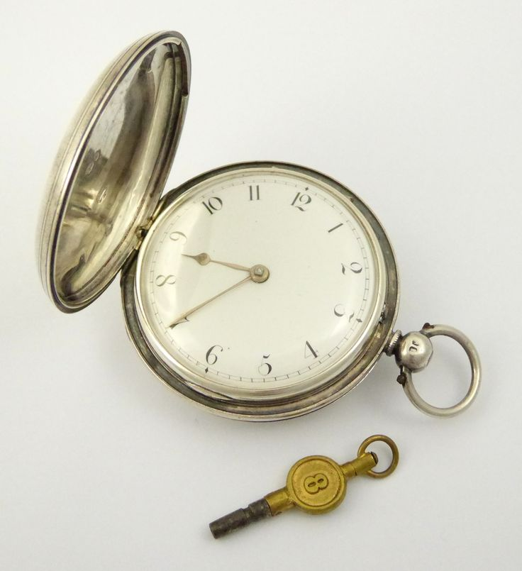 Antique 1852 Sterling Silver Full Hunter Fusee Diamond End Pocket Watch made by Whitelaw Edinburgh - The Collectors Bag