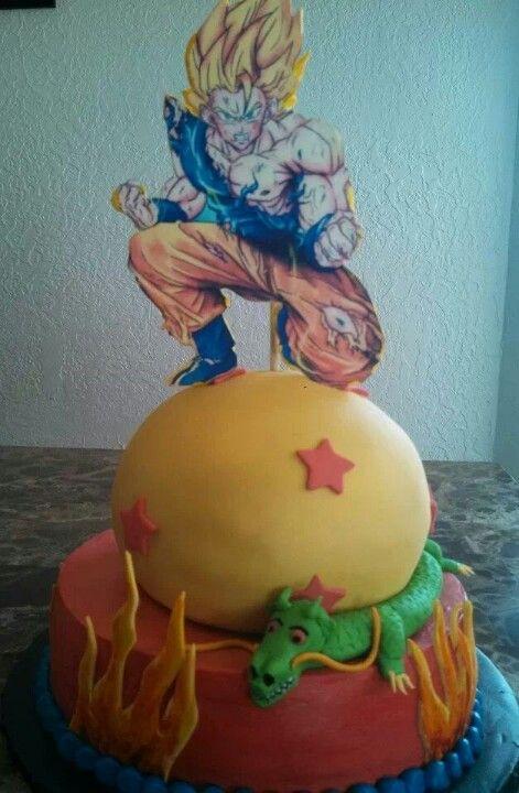 My sons Dragon ball z cake