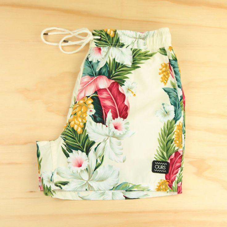 Aloha Boardshort, Art in the Age -- men's swim trunks $54 // menswear style