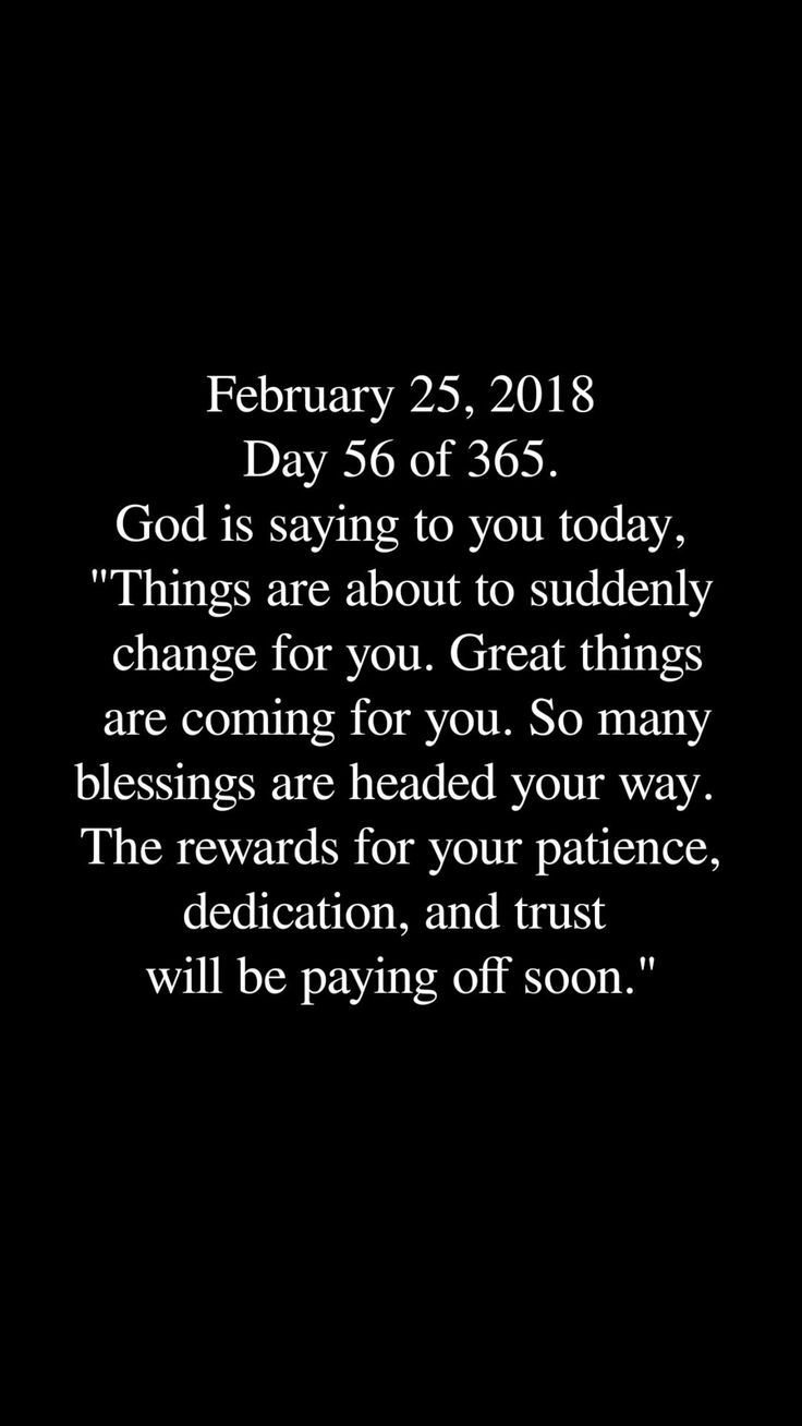 God is saying to you today 1/3/18....