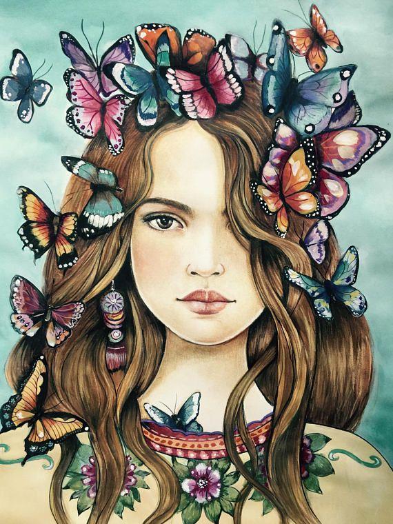 Mariposas en el pelo...