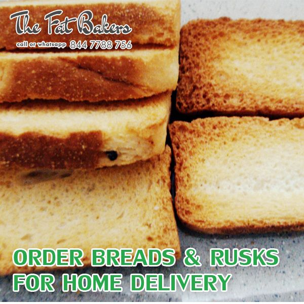 Order Breads & Rusks Online for Home Delivery in New Delhi, India From the Fat Bakers- Best Price Shop. Our service areas are Kirti Nagar, Patel Nagar, Karol Bagh, Rajender Nagar, Shadipur, Narayna, Moti Nagar, Ramesh Nagar and all over Delhi. Call or WhatsApp +91- 844 -7788 -756 or Visit: - http://thefatbakers.com/bread-n-rusks-in-new-delhi.html