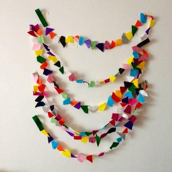Confetti Garland // Rainbow Geometric Felt Party by StampAndStitch