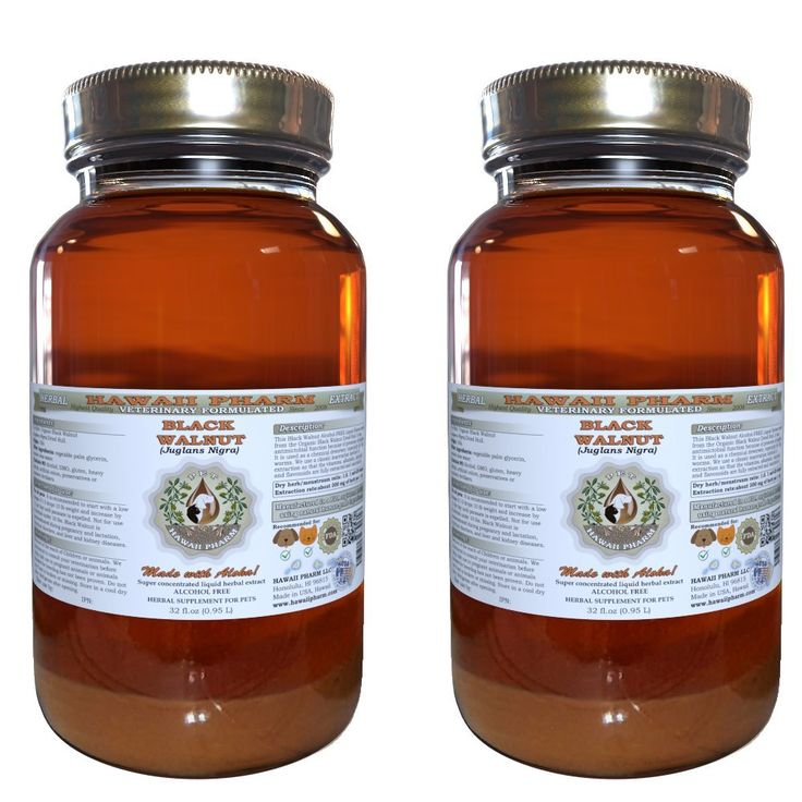 Black Walnut (Juglans Nigra) Organic Dried Hull VETERINARY Natural Alcohol-FREE Liquid Extract, Pet Herbal Supplement * Click image for more details. (This is an affiliate link and I receive a commission for the sales)