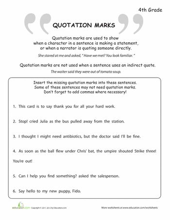 Worksheet Dialogue Worksheets quotation marks quotations and worksheets on pinterest what are marks