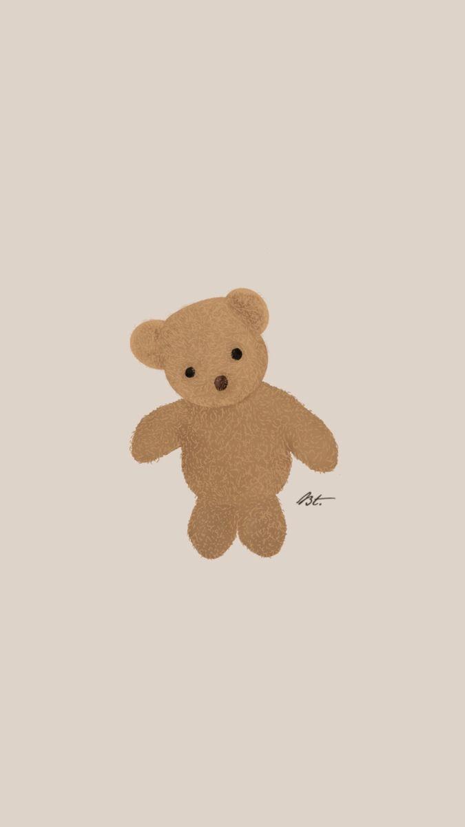 Teddy Bear Digital Illustration Ig Beeartrix Open For Any Commissions Gift Idea In 2021 Cute Cartoon Wallpapers Wallpaper Iphone Cute Bear Wallpaper