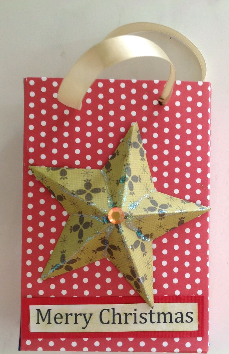 Gift bag with 3 D star