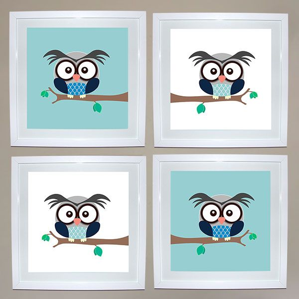 Boy Owl Print Set of 4 | Ruby & Me | Online Shop