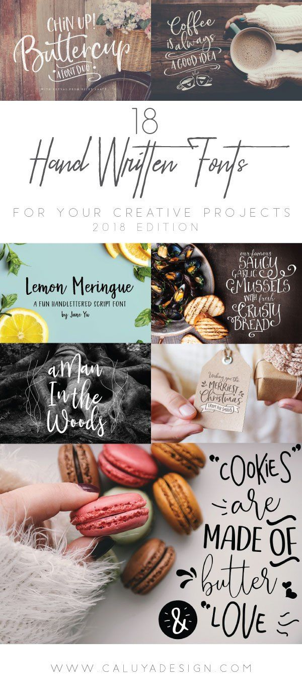 18 Stunning Hand-Written Fonts You Need For Creative Projects You can't have TOO MANY