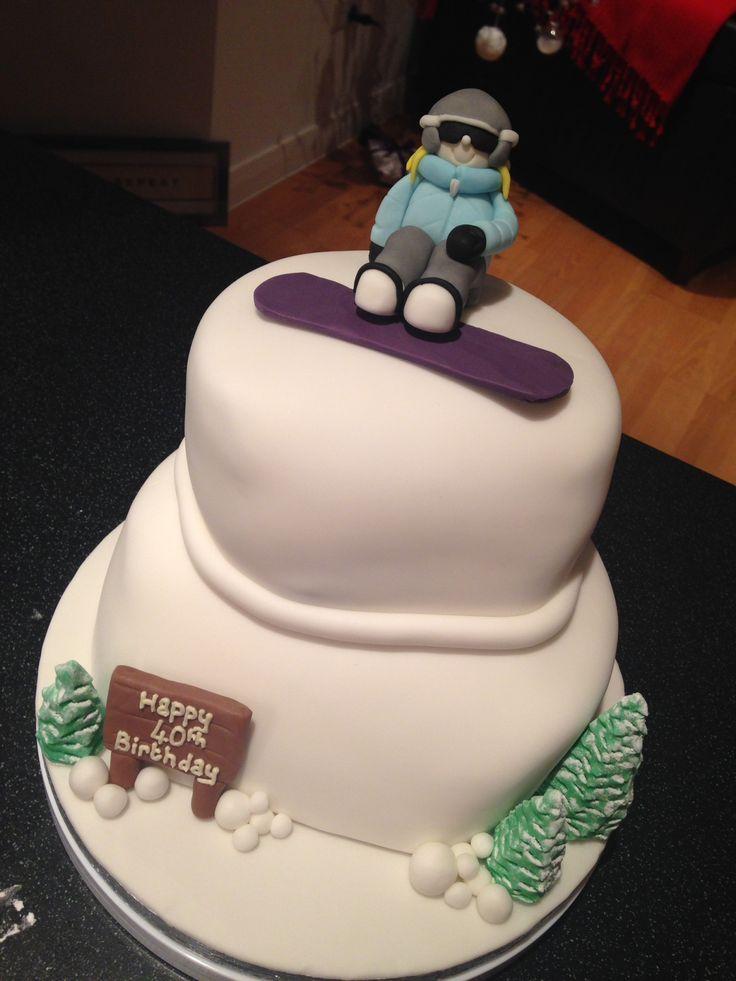 43 best Snowboard cake images on Pinterest Snowboard cake
