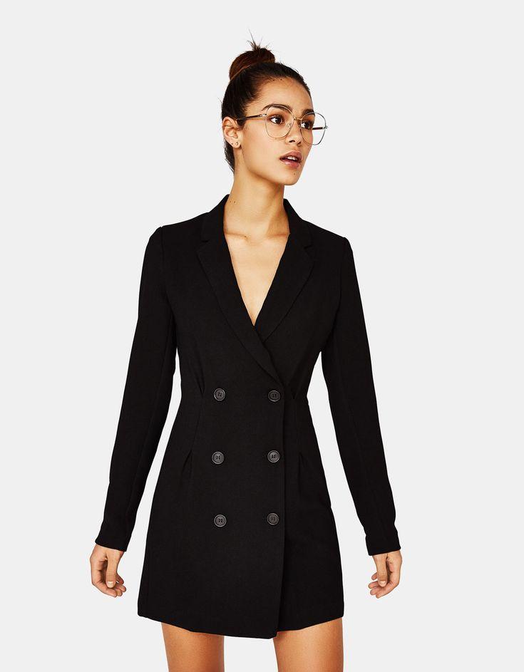 Blazer-style crossover dress - null - Bershka Russia