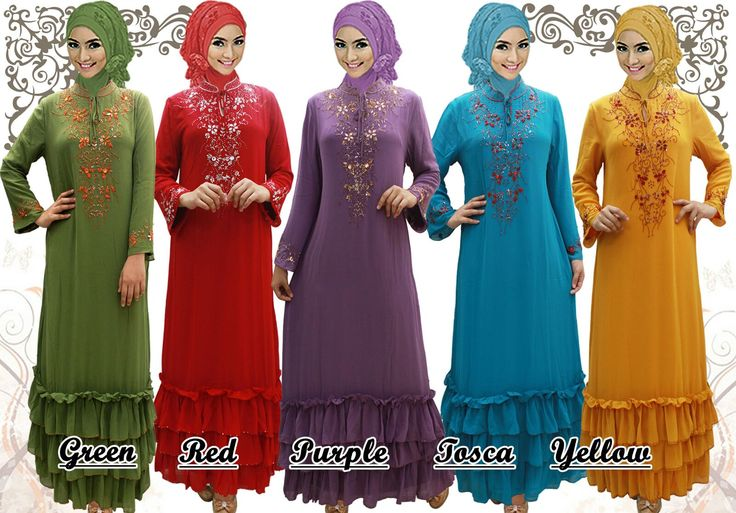 Gamis/Jubah by In Her Store Indonesia - Leica Series Material : Chiffon Cerutti Size : S – M – L – XL Retail Price : Rp 225rb/pc Reseler Price : Rp 200rb/pc (min.3pcs, mix size & colours allowed)  PIN : 56EC4B97 Line : go2dika