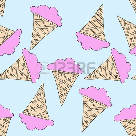 Ice Cream seamles repeat pattern design
