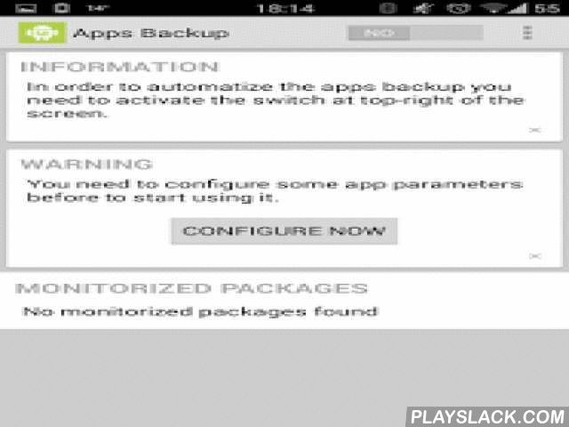 Backup Manager For Apps & Data  Android App - playslack.com ,  How many times have you uninstalled an application and, when trying to reinstall, was no longer available in the app store? Or are you boring when the apps store starts to download all the apps after a wipe?With this application, that needs root privileges, you can automate backing up your applications code (which will be updated whenever they are installed or updated) or data.For this you must just specify the directory in which…