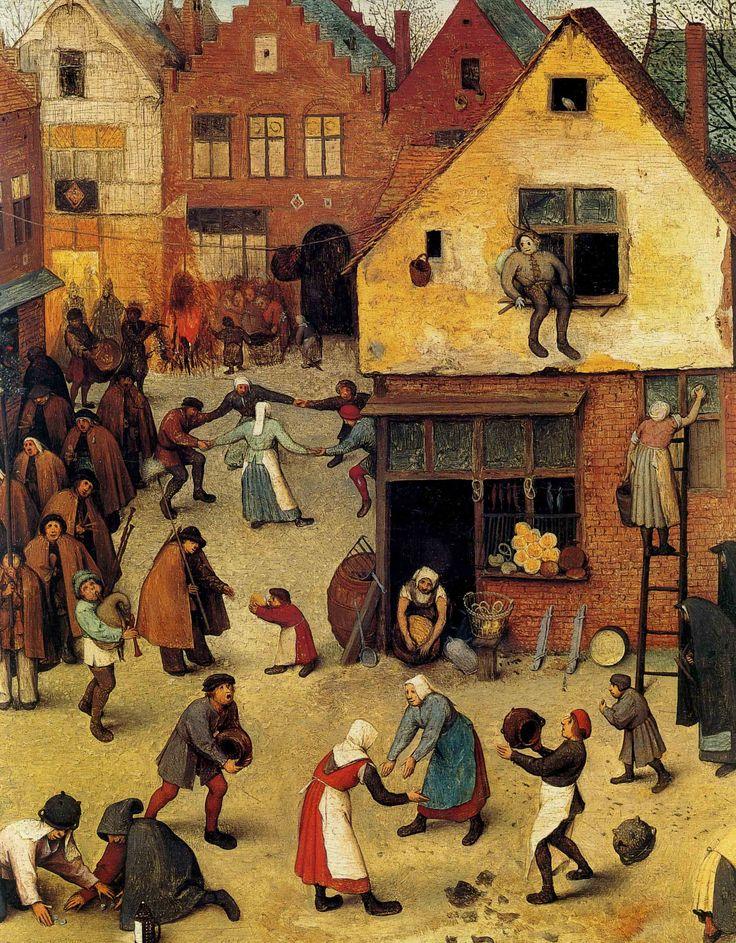 Pieter Bruegel the Elder - Ring dance - The Fight Between Carnival and Lent (detail) - 1559