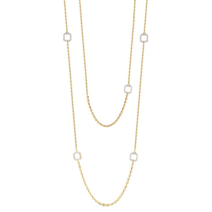 #Ivanka Trump #18k #Gold Metropolis Cube Link #Necklace