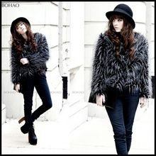 2015 New imitation peacock feathers Winter fashion warm jacket faux fur coat  Best Buy follow this link http://shopingayo.space