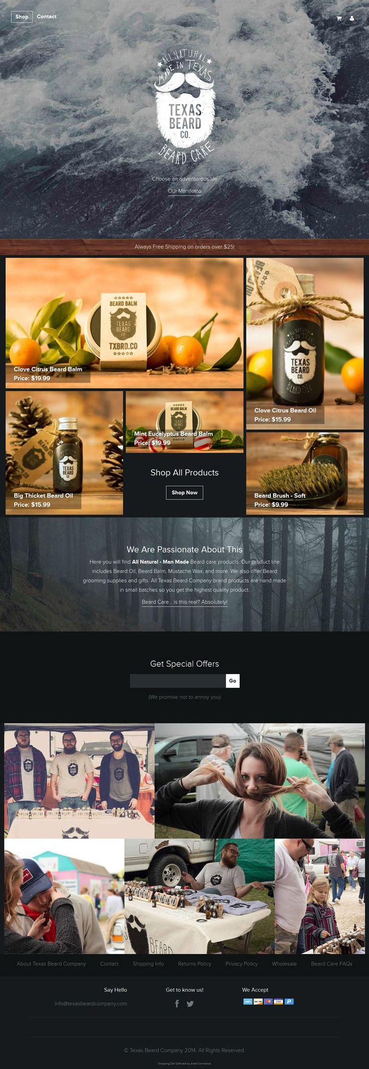 Cool Web Design on the Internet, Texas Beard Co. #webdesign #webdevelopment #website @ http://www.pinterest.com/alfredchong/web-design/