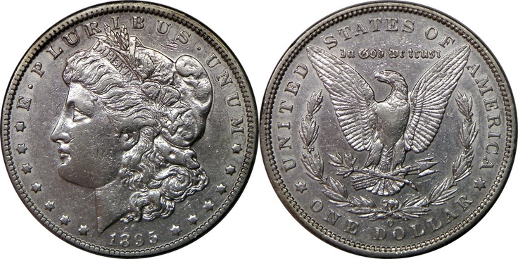 "The 1895 Silver Morgan Dollar is known as the ""King of the Morgan Dollars"" because it is the rarest and most valuable of the entire Morgan Dollar series. PF-68 specimens of this rare coin have sold for upwards of 120 thousand dollars at auction."