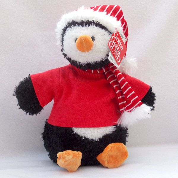 Personalised Gund Penguin Snowflake. Personalise his Red -Shirt with your own personal message. http://www.bears4u.co.uk/Product-Info/index.php?Bearname_ID=459