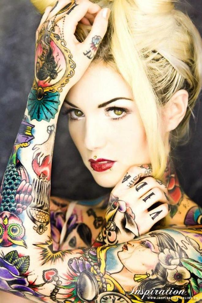 Flash tattoos full body color tattoo girl ink yourself for Tattoo girl book