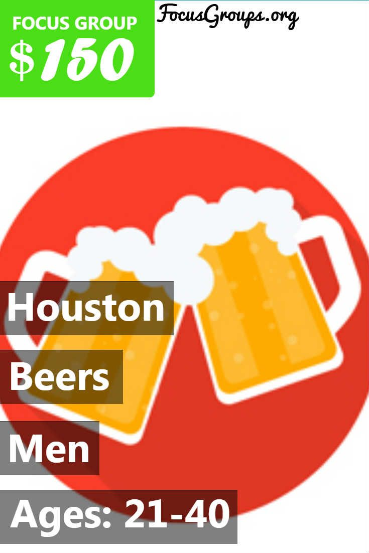 Plaza Research Houston is conducting a discussion with Spanish speaking Males ages 21-40 on the topic of Beer. The study will be held on August 22-24, 2017 in the Galleria area. You will be paid $150 for 2.25 hours of your time. If you are interested in participating, please sign up and take the survey to see if you qualify! ***Note this study will be held in Spanish