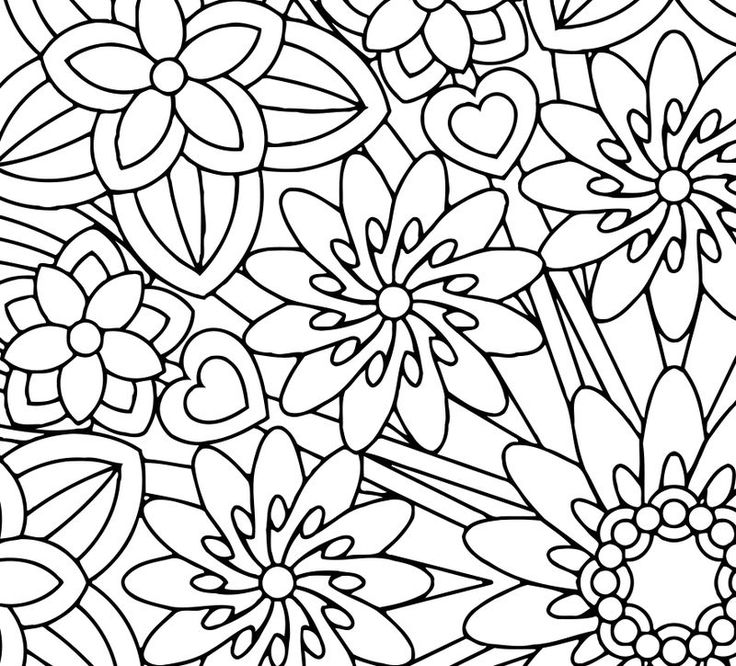 Mindfulness Coloring Pages Flowers See the category to ...