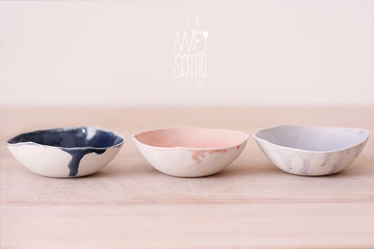 bowls with a delicately glazed inside and smooth unglazed porcelain exterior