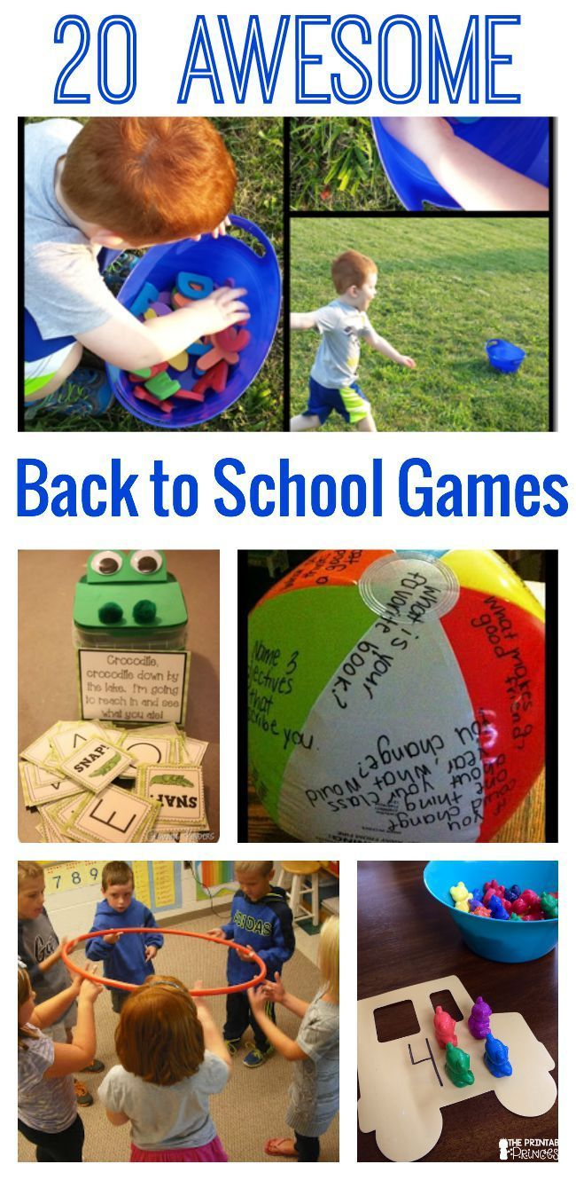 20 Awesome Back to School Games