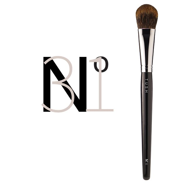 Nr 31 Extra Small Blush Brush. The classic rounded blush brush in a smaller format made of the softest natural bristles. Especially designed for precise application with an extremely soft touch. Available at www.tushbrushes.com