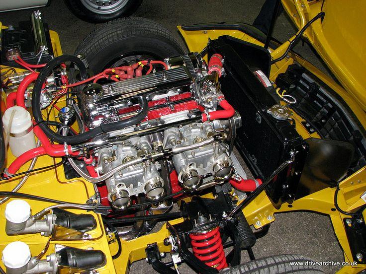 Triumph Spitfire engine bay