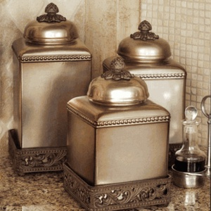 163 best images about kitchen canisters on pinterest ceramics copper and canister sets for Kitchen set elegant