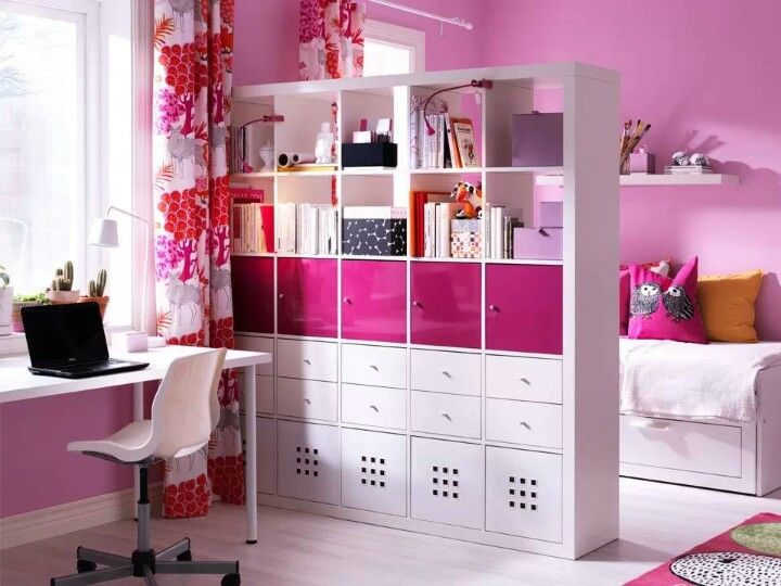 use boxes to organize and hide the clutter. choose any color scheme you enjoy