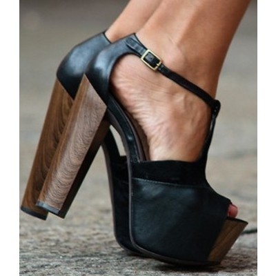 really into platforms lately. Love the wood heels.