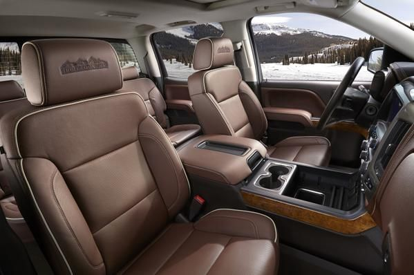 Premium leather-trimming is just the beginning for the #Silverado High Country.