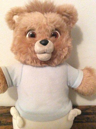 TEDDY RUXPIN TALKING TEDDY BEAR   VintageDressParlor - Dolls & Miniatures on ArtFire