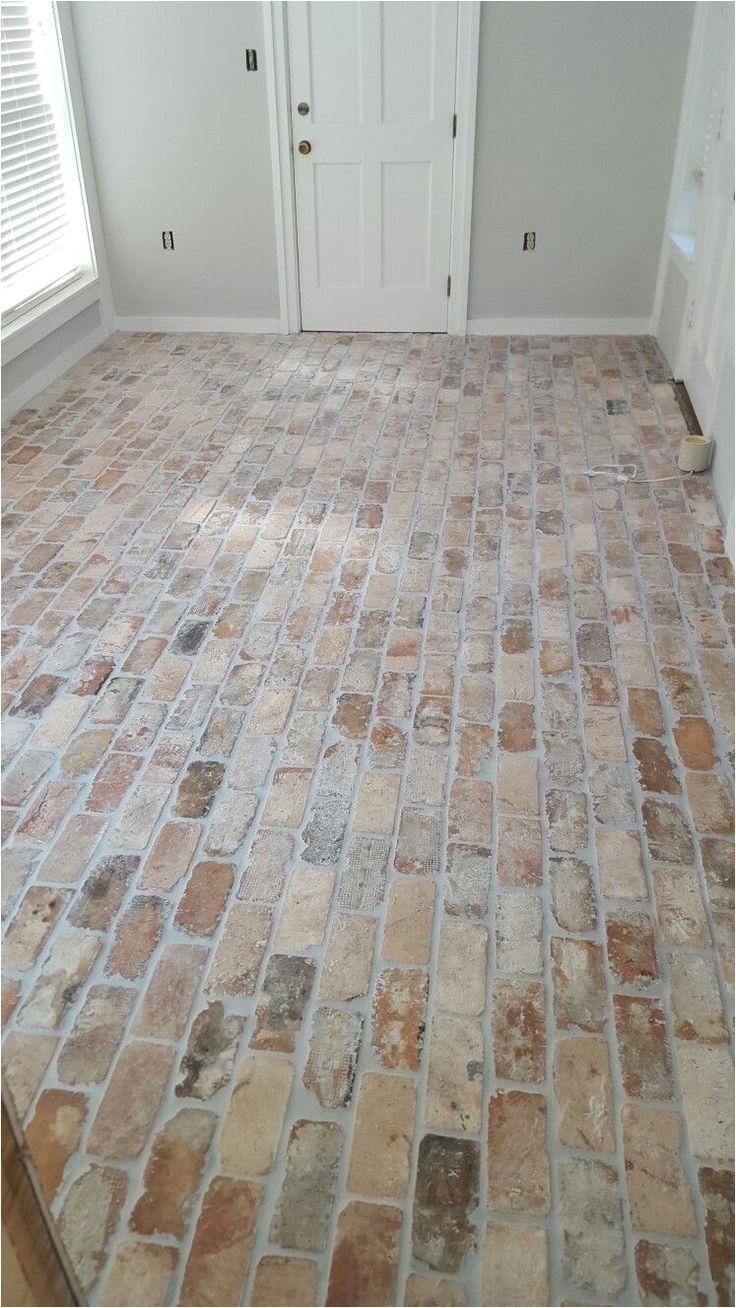 Faux Brick Tile Flooring Brick flooring, New homes