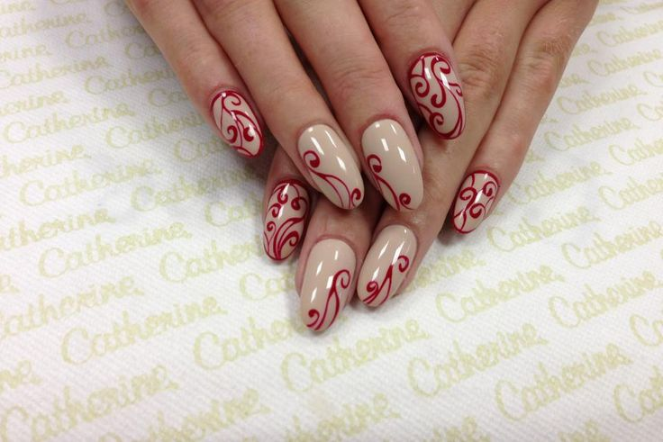 Catherine Nail Collection Ireland ... But with different colors. Red base with Gold/Green/White/Silver/etc. Detail for Christmas.